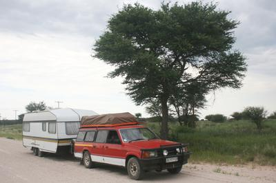 This was our traveling mode before we started staying over in farm lodges.