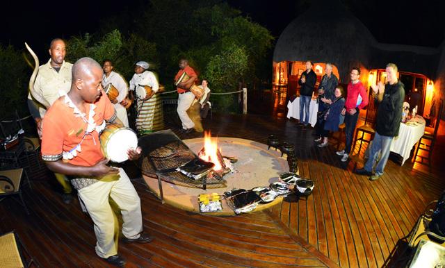 tribal dancing at Hoyo Hoyo