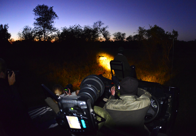 Photographing on a night drive