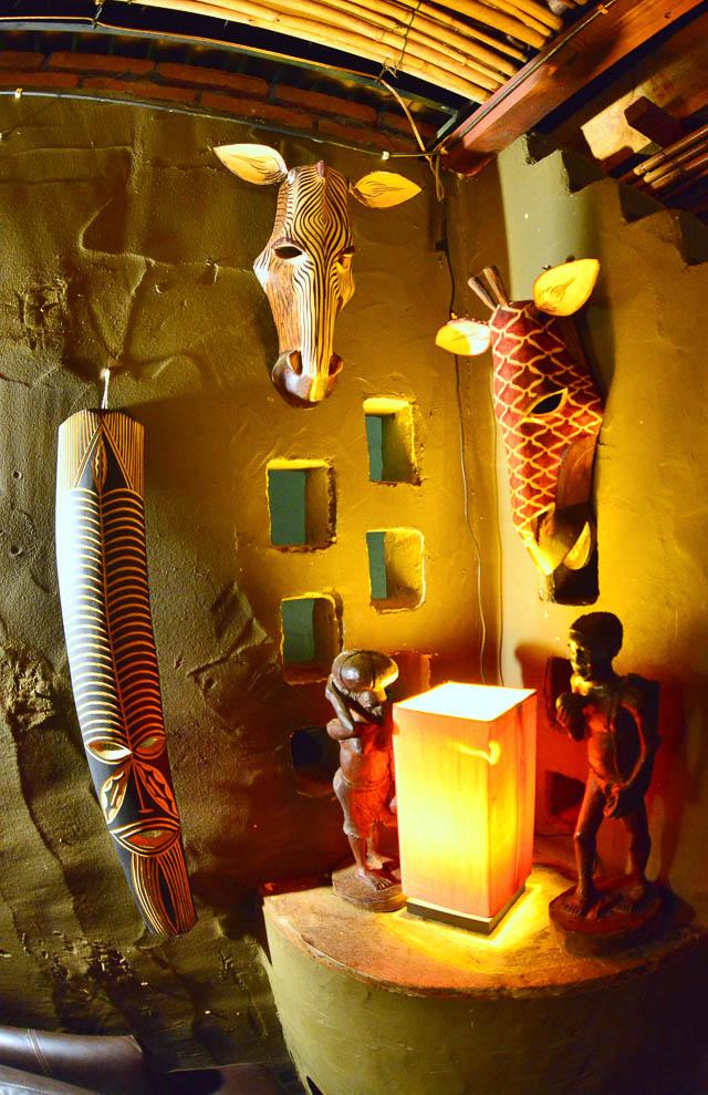 Kalahari Anib Lodge lounge decor