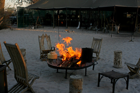safari camp in Botswana