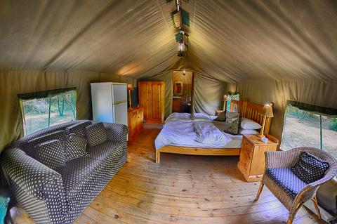 Inside of Bakgatla tent