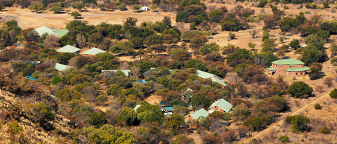 View from hill overlooking Bakgatla camp