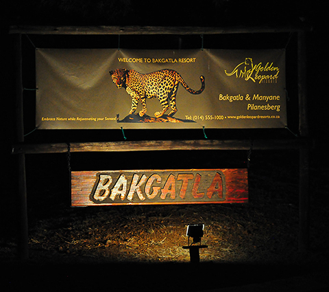Bakgatla camp welcome sign
