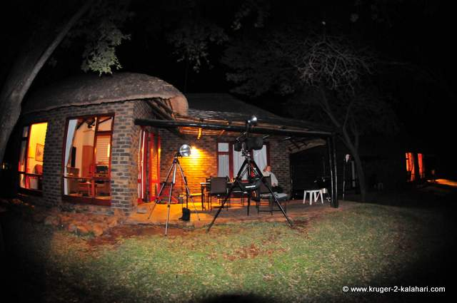 Braai at the chalet (with camera setup on tripod!