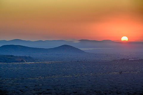 Sunrise over Madikwe