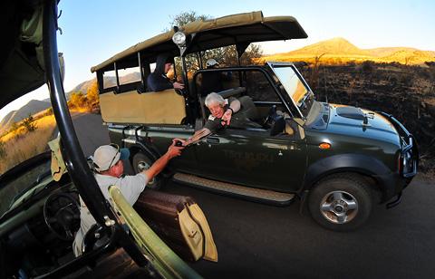 Game veiwing vehicles in Pilanesberg