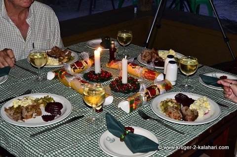 Dinner at Bateleur bushveld camp
