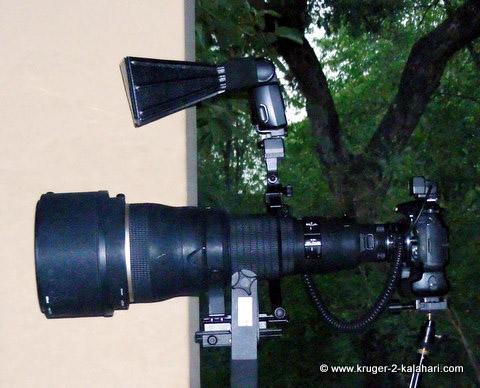 Better Beamer on Nikon flash plus RRS flash bracket and TTL cord