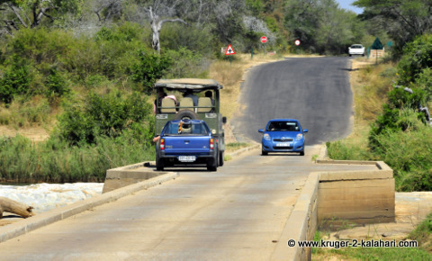 single lane bridge in Kruger Park