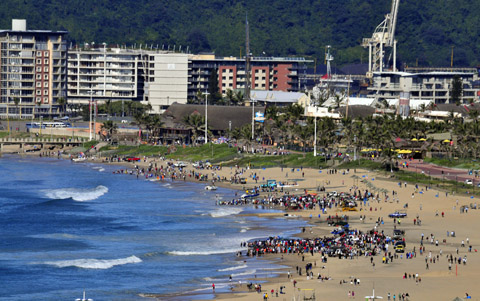 Sardine fever at Durban beachfront