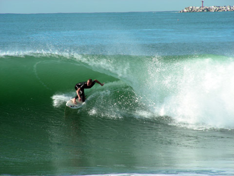Surfing on Durban beachfront