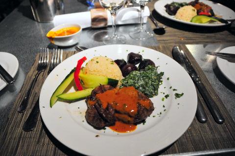 Dolomite dinner - impala steak