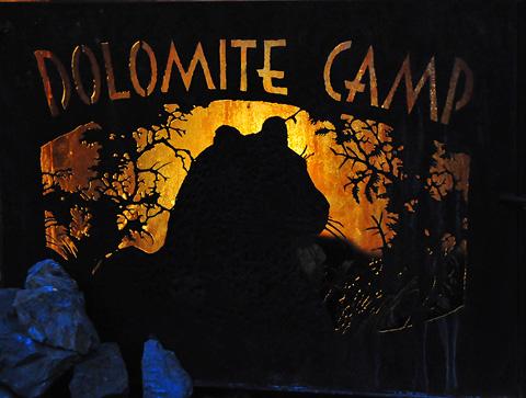 Dolomite camp leopard