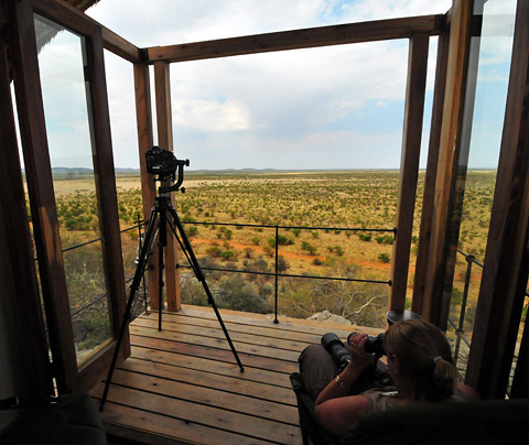 View from Dolomite camp in Etosha