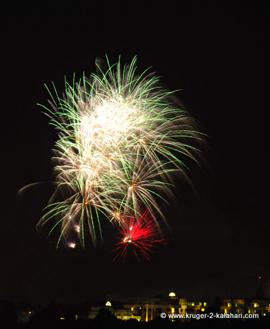 Fireworks display over Wanderers Stadium