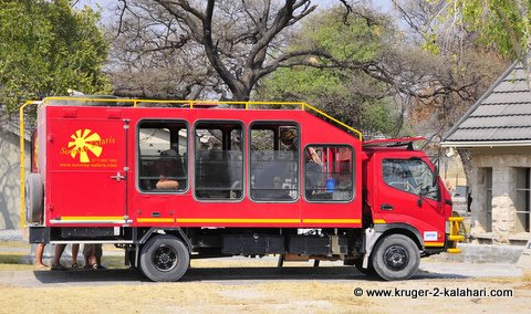Specialised game viewing vehicle for tours