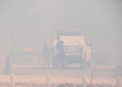 fire in Halali camp