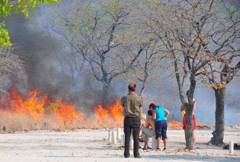 fire in Halali camp - Oct 2011