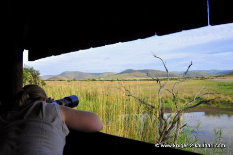 View from inside Mankwe hide, Pilanesberg