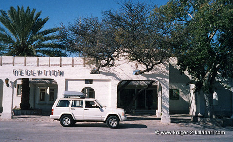 Jeep Cherokee in Namutoni camp Etosha