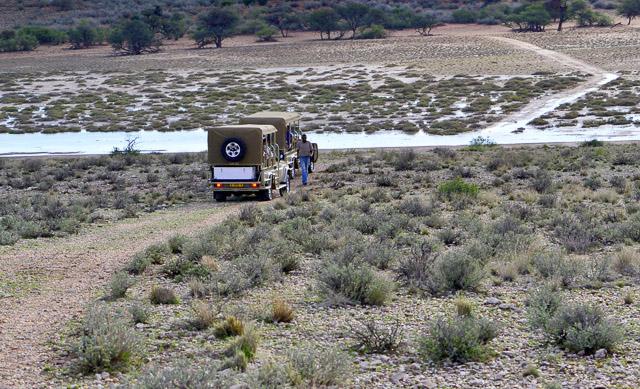 Kalahari Anib Lodge Auob river in flood