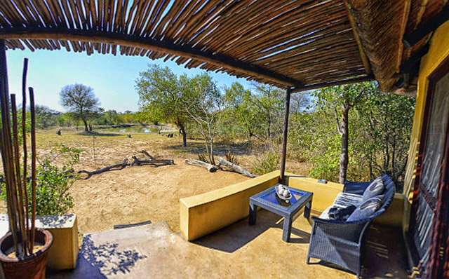 honeymoon chalet view of waterhole