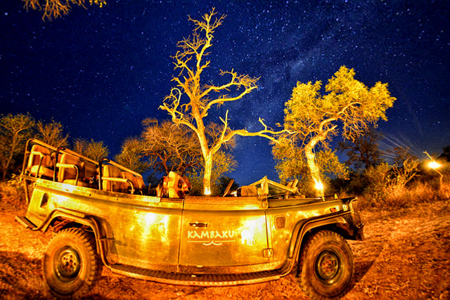 Safari Vehicle with stars