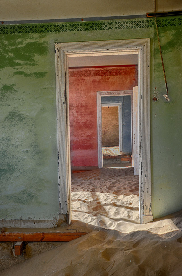 Colored doorways