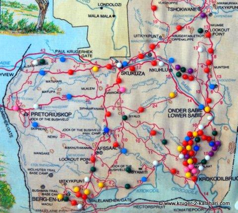 Kruger south map