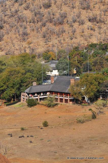 Kwa Maritane lodge as seen from the hill in front of the lodge