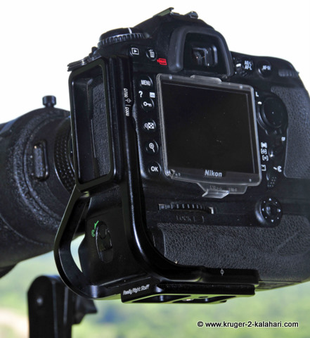 L-Plate mounted on Nikon D300
