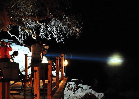 New Xenon Lightforce spotlight at Dolomite Camp in Etosha