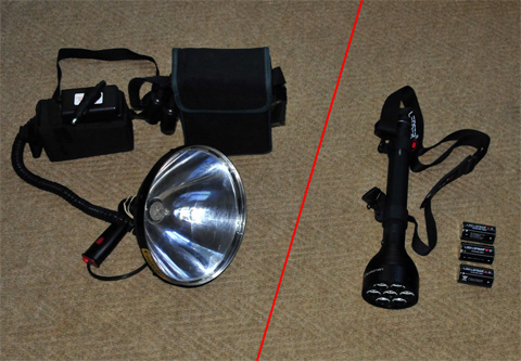 Lightforce spotlight vs LED Lenser spotlight