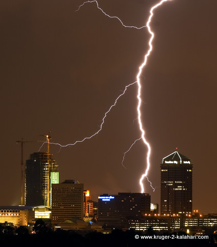 Lightning over Sandton City