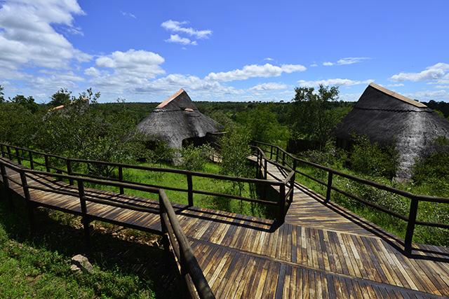 Lukimbi wooden walkway