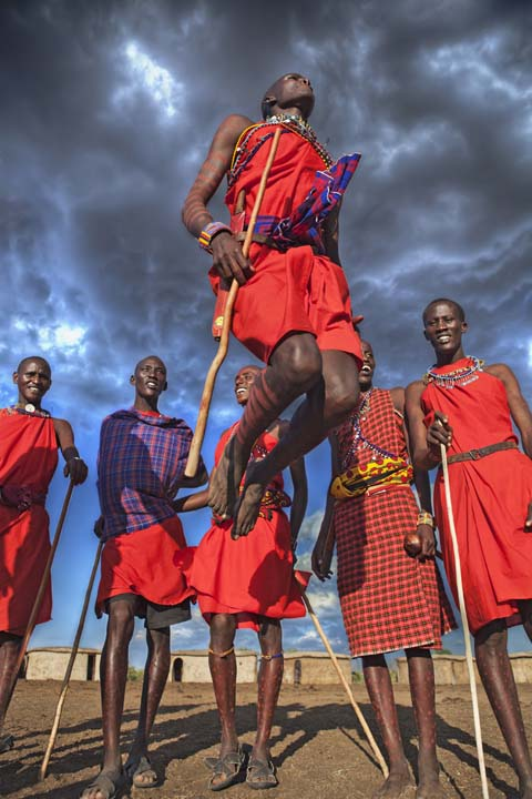 masai warrior jumping