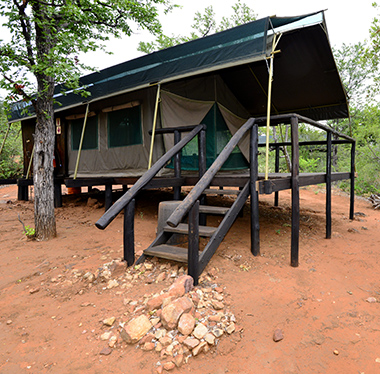 Rustic tent at Makuya Game Reserve, Greater Kruger