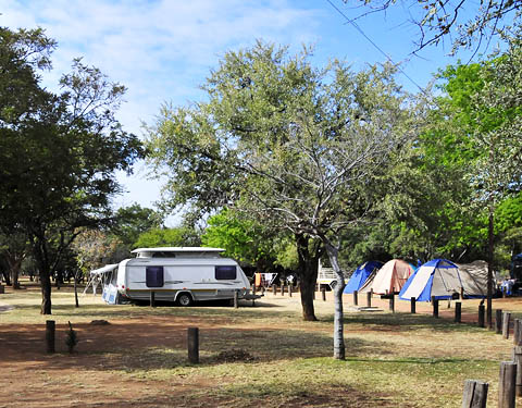 Large camping area in Manyane Resort