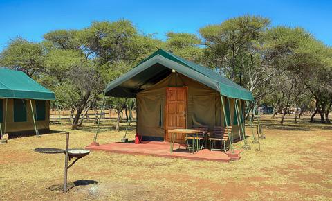 Tant at Manyane camp