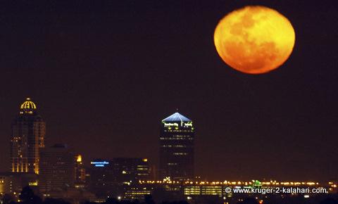 Moon rising over Sandton