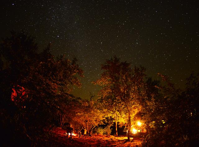 stars over Mutale Falls Camp
