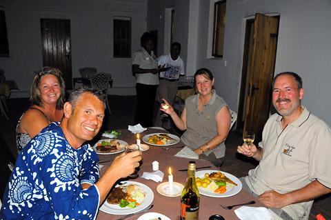 dinner at Fort Namutoni