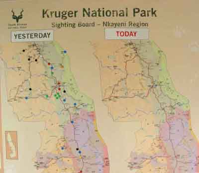 Central region map of kruger park