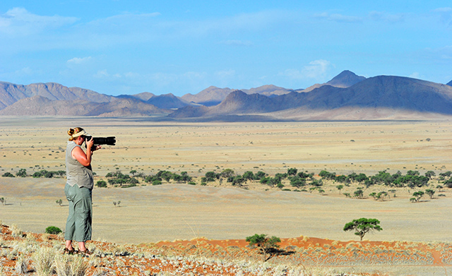 Photographing the plains and mountains at Namib Desert Lodge