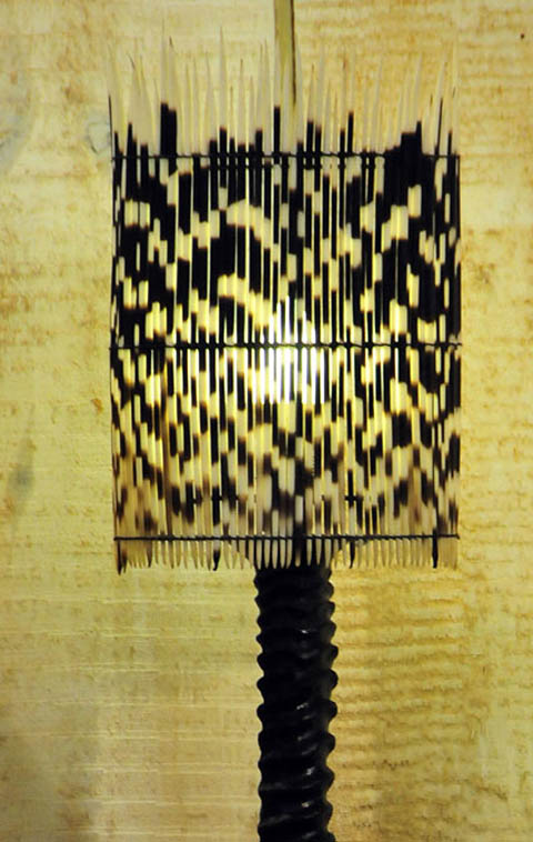 Porcupine quill lampshade