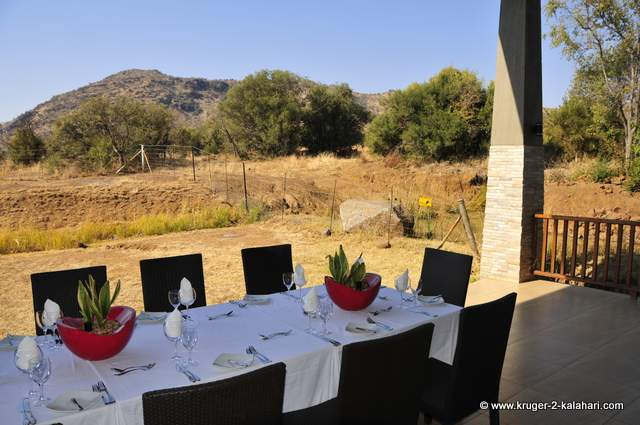 Patio overlooking waterhole