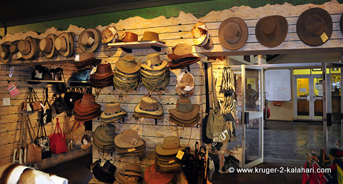 Hat selection at Satara shop