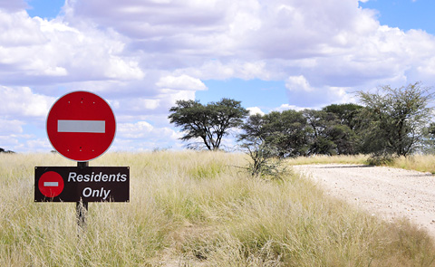 No enrty sign at Grootkolk