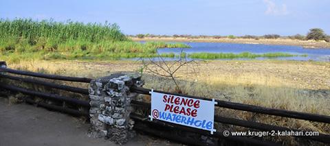Namutoni camp waterhole
